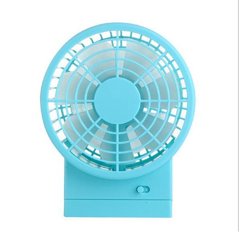 2017 Hot Sale Mini USB Desk Fan Creative Home Office ABS Electric Rechargeable Fans Mute Desktop Fan With Double Side Fan Blades<br>