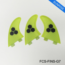 Stand Up Paddle Surfing Paddling Fin FCS G7 Honeycomb Logo Fiberglass Fin Pure Color Fins Tri fin set