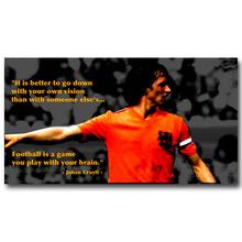 NICOLESHENTING Johan Cruyff Football Legend Art Silk Poster Print 13x24 inches Netherlands Soccer Star Pictures Room Decor 012
