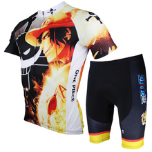Paladin New 2016 Men's Cartoon One Piece Cycling Jersey + Short Luffy/Chopper/Zoro Ropa Ciclismo Cycling Bike Clothing Set