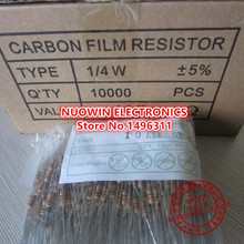 1000pcs 5% 1/4W Carbon Film Resistor 1K 1000 OHMS Color ring resistor 5% ROHS Good quality