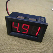 10pcs 0.56inch LCD DC 4.5-30V Red LED Panel Meter Digital Voltmeter with Two-wire Electrical Instruments Voltage Meters(China)