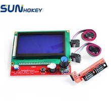 Sunhokey 3D Printer Parts Smart Screen Controller Panel LCD 12864 Display Monitor Motherboard Blue Screen fit RAMPS 1.4