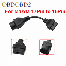 New Arrival For Mazda 17 Pin To 16 Pin Connector OBD2 OBDII Diagnostic Adapter For Mazda 17Pin Male Cable For Mazda Vehicles
