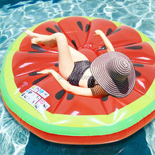 140CM 55Inch Giant Inflatable Watermelon Pool Float Red Ride-On Swimming Ring Adults Children Water Holiday Party Toys Piscina(China)