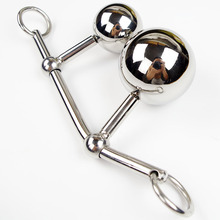 Adult Sex Product Sexy Toys 100%Real Stainless Steel Fetish Vagina Analm Hollow Ball Plug Butt  Anal Toys Female Chastity Belt