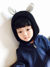 2016 Double Layer Warm Winter Autumn Baby Hat Velvet Lined cotton Toddler Cap Animal Puppy Dog Style Cute Hat  Boy Girl Chapeau