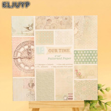 KLJUYP 24 Sheets Our Time Scrapbooking Pads Paper Origami Art Background Paper Card Making DIY Scrapbook Paper Craft(China)