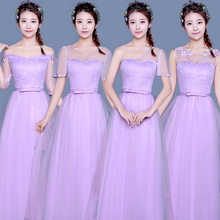 lavender elegant long simple bridemaid dresses lilac bridesmaids robe de soiree 2017 princess for adults ball gown R3891