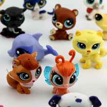 2017 New Arrival 10pcs/lot HOT Littlest Pets Shops toys Cute Animals Q Pet Shop cute Cat Dog loose Action Figure Collection Toy(China)