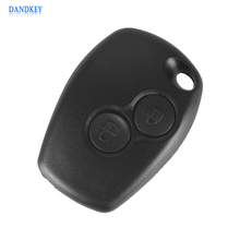 Dandkey 2 Buttons Auto Car Key Shell Remote Control Key Fob Cover Case Replacement For Renault 206 Without blade(China)
