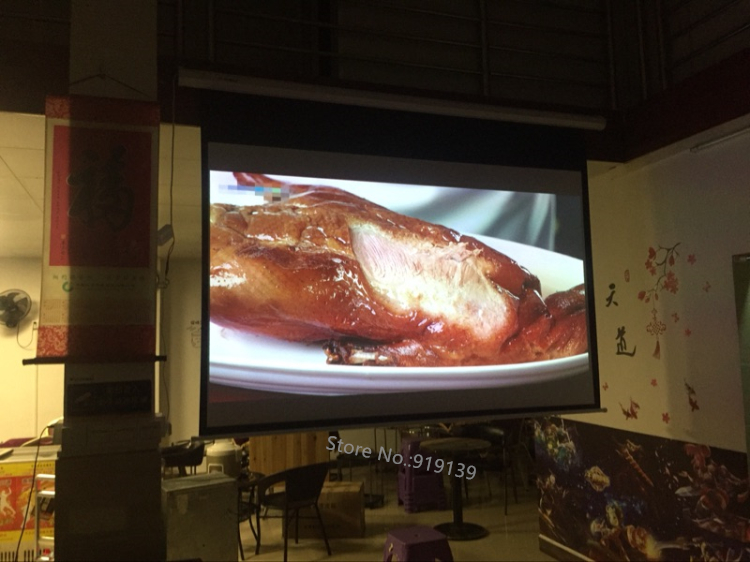 150inch Electric projection screen pic 18