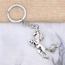 New charming novelty Silver Color Metal Vintage running horse Key Chains Accessory & Chrome plated Key Rings