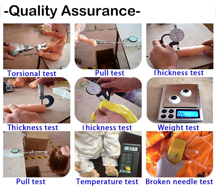 quality assurance of baby doll