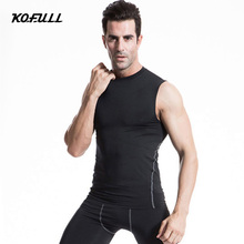 Kofull Golf Training Shirts Yoga Shirt Running Singlet Men Compression Tights Underwear Fitness Sport Jersey Sports Fitness Vest