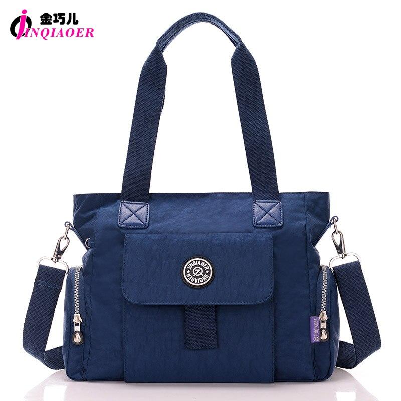 JINQIAOER Original Brand Women Handbag New Tote Bags Simple Designer Waterproof Nylon Crossbody Bag Large Messenger Shoulder Bag<br>