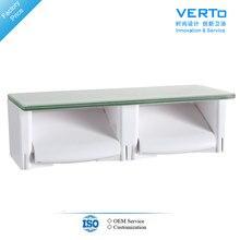 luxury double roll design toilet paper holder glass wc tissue holder bathroom accessories vt604bl01 z4