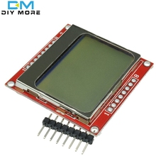 LCD Module Display Monitor White Backlight Adapter PCB 84*48 84x84  5110 Screen For Arduino LCD Display Module