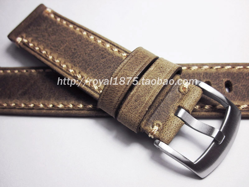 New High Quality Handmade Outdoors Straps Mens 20mm Retro Brown Leather strap with stainless steel buckle Watch accessories<br><br>Aliexpress