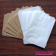 "200pcs New Kraft and White Solid Color Party Favor Bags, Bitty bag,Kraft Paper Gift Bag 5""x7"" (13x18cm)"