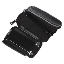 Good deal Roswheel Outdoor Sport Cycling Bike Bicycle Frame Pannier Front Top Bag Frame Tube Cell Phone Bag Black(China)