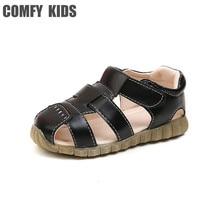 COMFY KIDS 2018 Arrivals New Child Leather Sandals Shoes Baby Toddler Soft Leather Sandals Shoe Boys Girls Flat Sandals