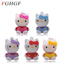 FGHGF Hello Kitty Usb Flash Drive 64gb Pen Drive 32gb Pendrive 4gb 8gb 16gb Cartoon U Disk Flash Card hot sale Memory stick(China)
