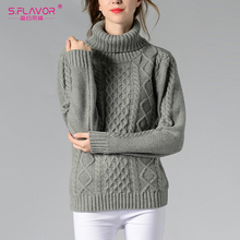 Buy S.FLAVOR Autumn Winter Women Turtleneck Sweater Knitted Solid Pullover Warm Casual Long-sleeve Sweater top Women clothing 2018 for $19.79 in AliExpress store