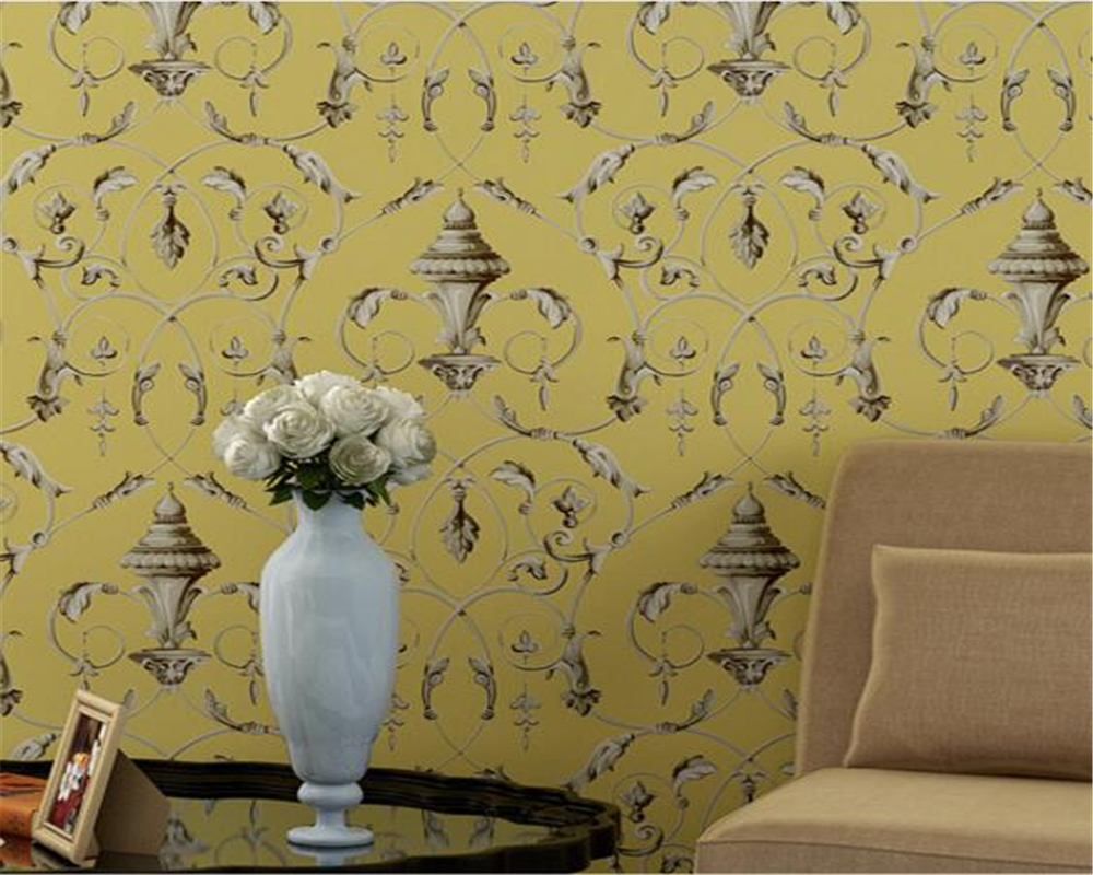 Beibehang High-grade pure 3D wallpaper European-style hook-up bedroom Living room TV background wallpaper roll papel de parede<br>