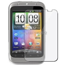 1 Clear LCD Screen Protector Cover for HTC Wildfire S Accessory Mobile Phone(China)