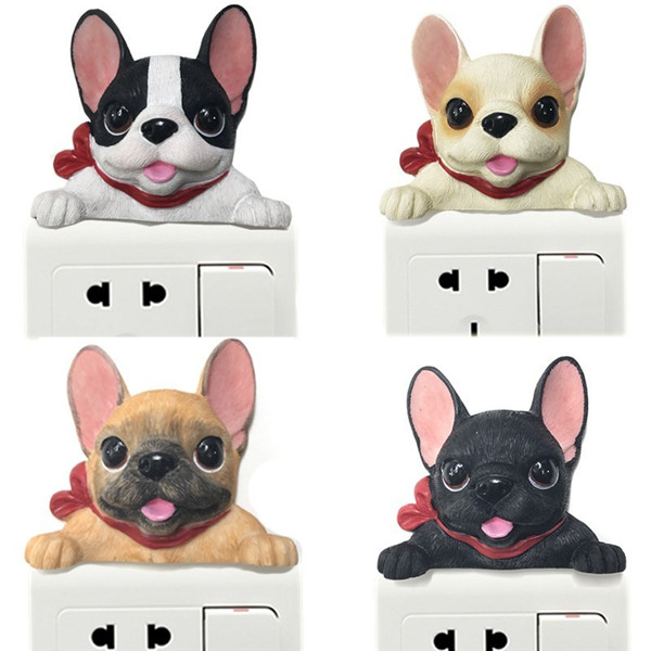 French Bulldog cute puppy dogs resin switch stickers fridge magnets - 1