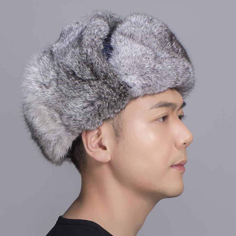 grey rabbit fur jean blue shell 4