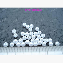 3mm 400pcs White/Beige, ABS Imitation Pearls Beads, Making jewelry diy beads, Jewelry Handmade necklace,Pearls round for crafts
