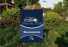 "Seattle seahawks National Football Team Garden flag kintted polyester double sides 13""X18"" custom flag Home Deco Indoor Outdoor"
