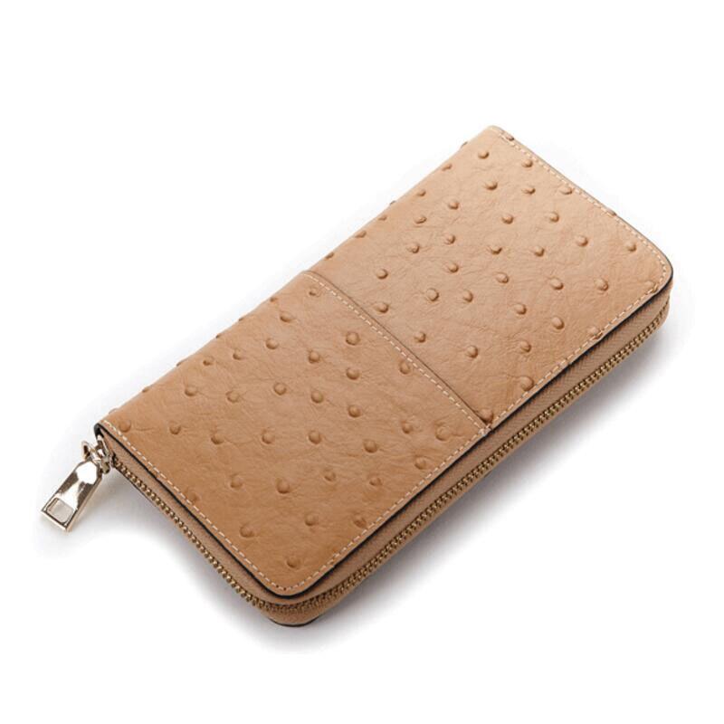 Women wallets ostrich pattern famous brand cow leather purse wallet designer long zipper money large capacity card holders<br><br>Aliexpress