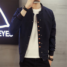Spring 2017 new men's single breasted jacket slim fashion coat collar Korean male plus size 4XL5XL(China)