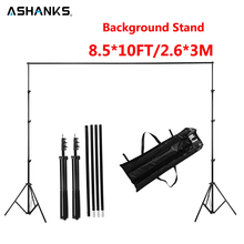 ASHANKS 2.6M X 3M/8.5*10ft Pro Photography Photo Backdrops Background Support System Stands For Photo Video Studio + carry bag(China)