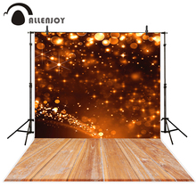 Allenjoy photography background wood floor golden glitter theme backdrop professional photo background studio camera fotografica