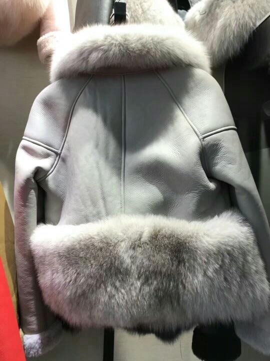 genuine sheep leatherskin jacket fox fur cooar coats (36)