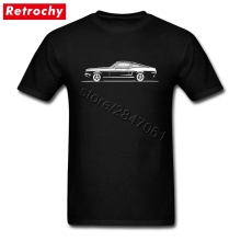 Vintage Print 1968 Mustang T Shirt Classic Car T-Shirts Man Funky Short Sleeve 90S Tees(China)