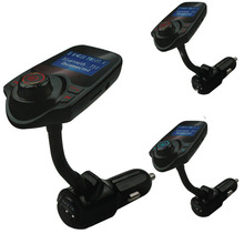 New Bluetooth Car Kit Handsfree Set FM Transmitter MP3 music Player 5V 2.1A USB Car charger, Support Micro SD Card 1G-32G