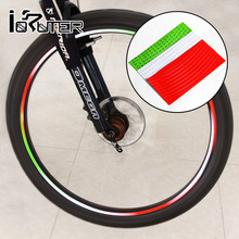 5pcsReflective Stickers Motorcycle Bicycle DIY Reflector Bike stickers Security Wheel Rim Decal Tape Outdoor Cycling Fluorescent