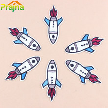 Prajna Brand Cute White Airplane Embroidered Patches Cartoon Iron On Patches For Clothing Logos Vest Cheap Bordad Set StickersC1