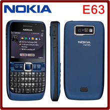 Original unlocked NOKIA E63 cell phones 3G WIFI Bluetooth mp3 player 2MP CAMERA Refurbished phone One year warranty(China)