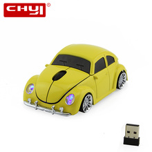 3D Wilress Optical Computer Mouse 1600DPI +USB Receiver VW Beetle Mice Bug Beatles for PC Laptop Fashion Car shape Gaming Mause(China)