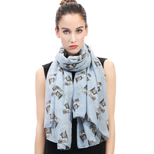 Yorkshire Terrier Yorkie Pet Dog Print Women Large Scarf Shawl Wrap Soft Lightweight(China)