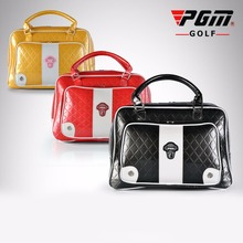 PGM PU Golf Bags Clothing Waterproof Bag Leather High Capacity Durable Brand Golf Bag For Shoes Travel Double Hand daily Package(China)