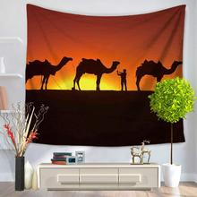 New Sunset Tapestry Desert Camel Rectangle Design Hippie Tapestry Home Decorative Wall Hanging Mandala Blanket tenture murale(China)