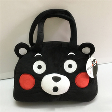 New Arrival Kumamon Handbag Soft Plush Stuffed Toy 3D Bear Women Shoulder Hand Bag with Ears Gift(China)