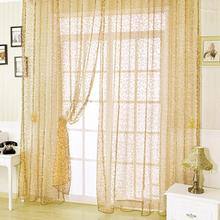 European style jacquard design home decoration modern curtain tulle fabrics organza sheer panel window 200cmx100cm / 270cmx100cm
